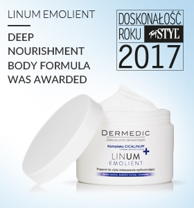 Dermedic Linum Emolient named Excellence of the Year 2017 by Twój STYL magazine
