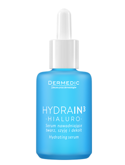 Hydrating serum for face, neck and decolltage - Dermedic